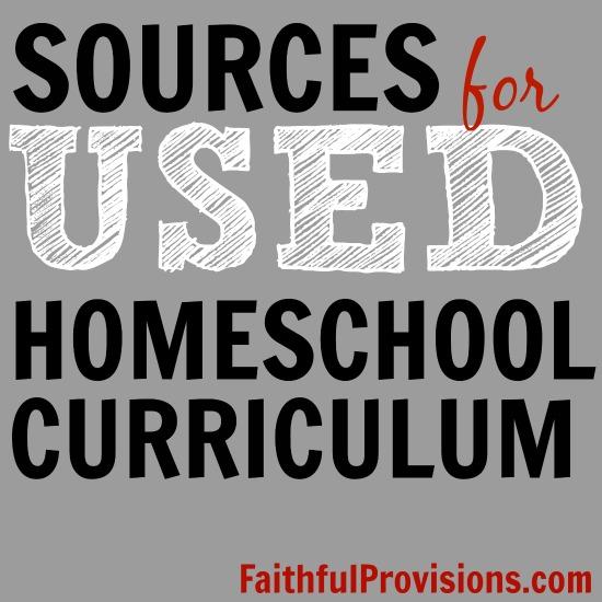 Where to Buy Homeschool Curriculum   FaithfulProvisions.com