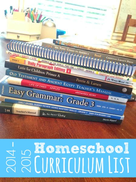 My Homeschool Curriculum List | Faithful Provisions