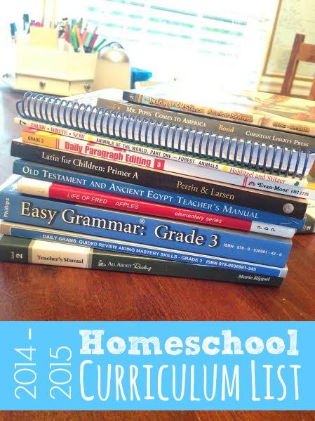 My Homeschool Curriculum List | Faithful Provisions