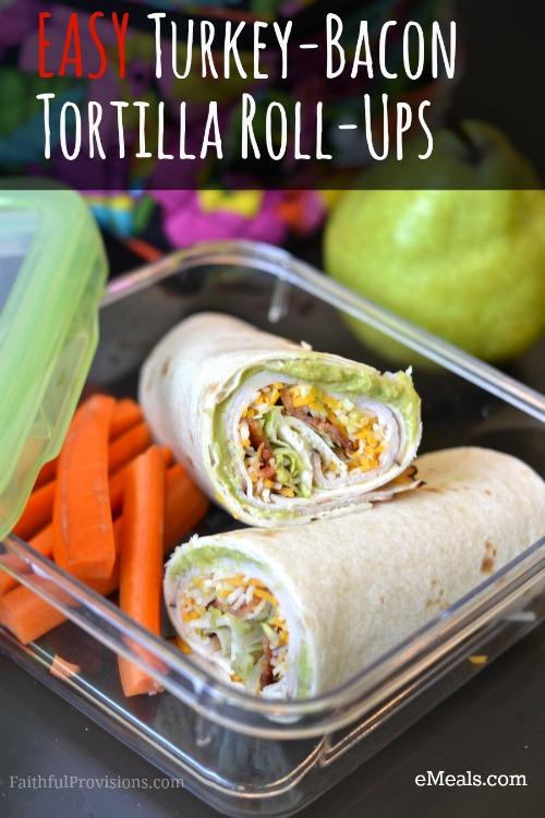 Turkey-Bacon Tortilla Rolls-Ups | Faithful Provisions