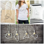 Personalized State Gifts: Custom Printed Necklace, T-Shirt, Pillows and Totes 50% Off + Free Shipping (Today Only)