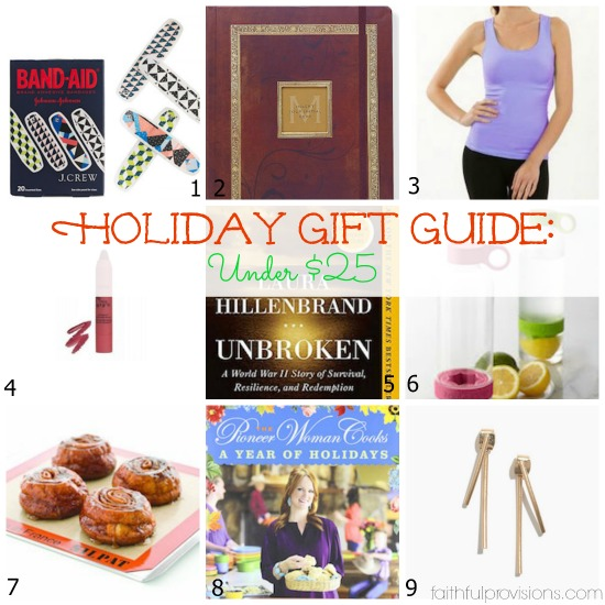 Holiday Gift Guide: For Her - Under $25 | Faithful Provisions