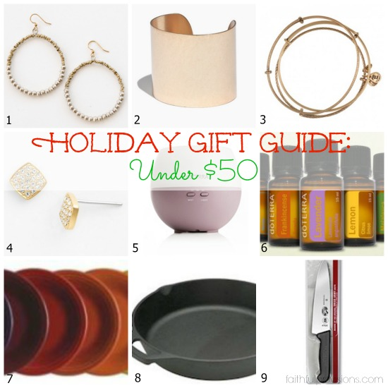 Holiday Gift Guide: For Her - Under $50 | Faithful Provisions