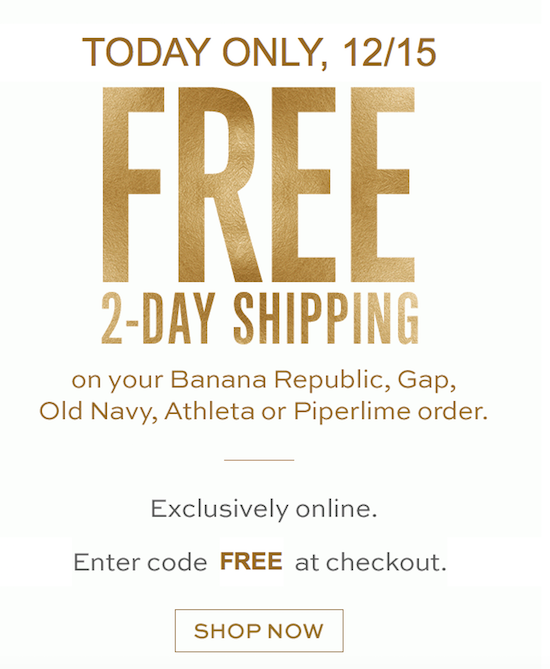 Free Shipping Today: Free 2-Day Shipping (Today ONLY)