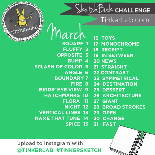 March Tinkersketch Challenge