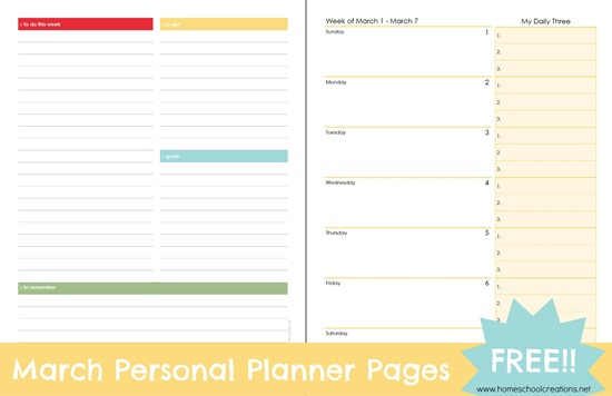 March-personal-planner-pages-free-download