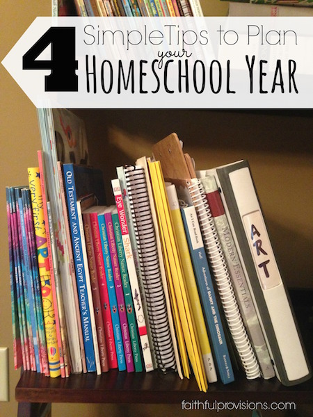 4 Tips to Plan Homeschool Year