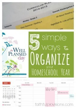 5 Simple Ways Organize Homeschool