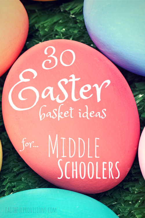 30 easter basket gift ideas for middle schoolers faithful provisions best easter basket gifts for middle school boys 6th 8th grade negle Gallery