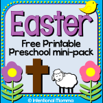 Free Printable Easter Mini-Pack for Preschool