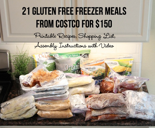 21 Gluten Free Freezer Meals for $150 from Costco