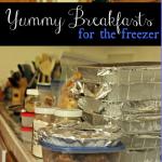 Freezer Cooking: Breakfast Meal Plan