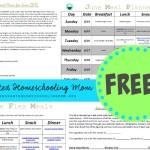 FREE June Printable Meal Planner