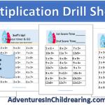 FREE Multiplication Drill Sheet Printables