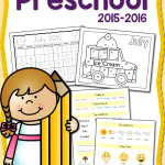 Free Printable: 2015-2016 Preschool Calendar Notebook