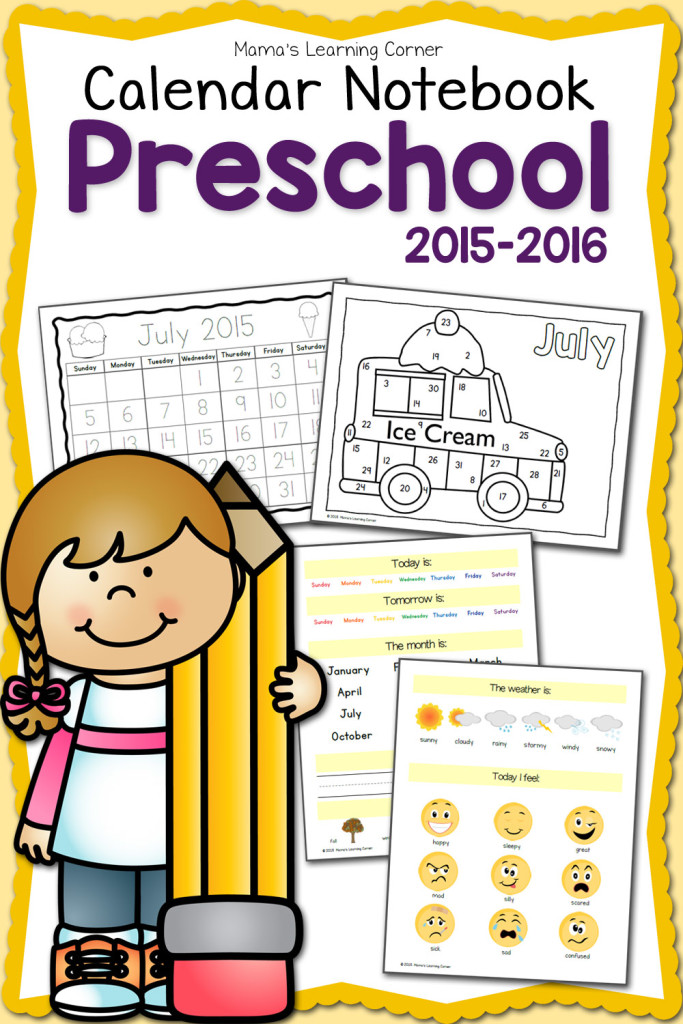 Calendar Practice Worksheets Kindergarten : Free printable preschool calendar notebook