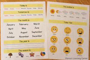 Preschool-Calendar-Notebook