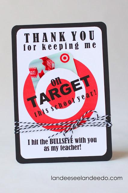 Printable Target Gift Card Holder