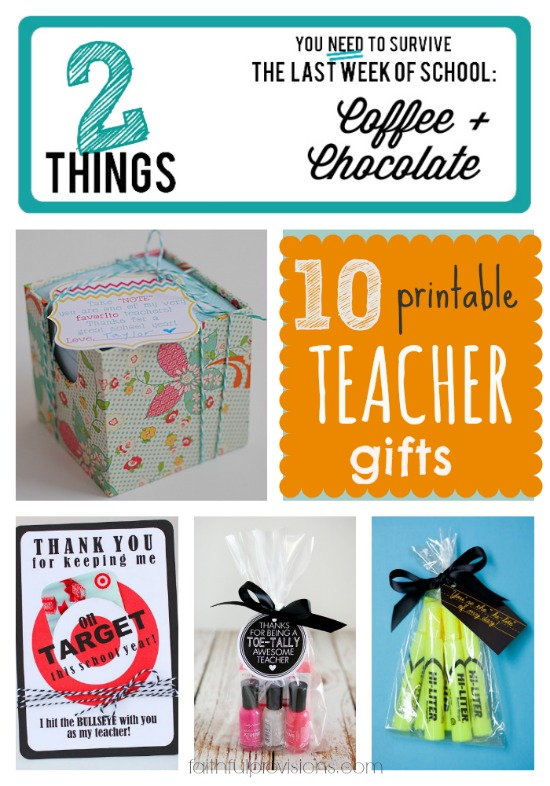 Printable Teacher Gifts