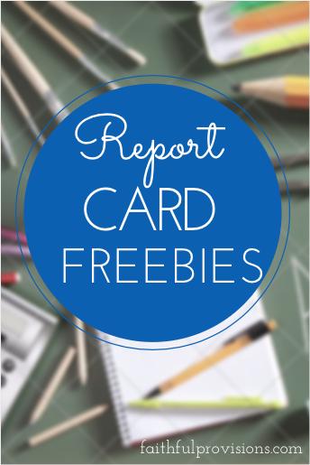 Report card freebies