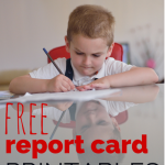 Free Report Card Printables for Homeschool