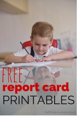 Report Card Printables