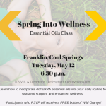 Nashville Readers: Essential Oils Class (FREE STUFF!)