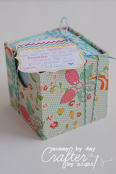 Take Note Teacher Gift Idea
