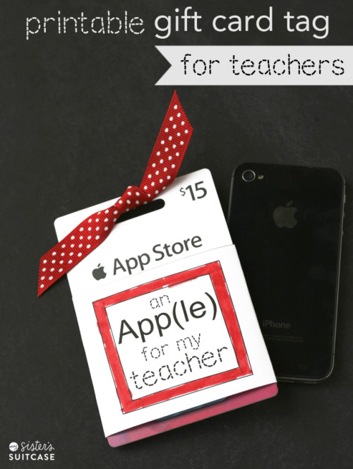 itunes gift card printable tag