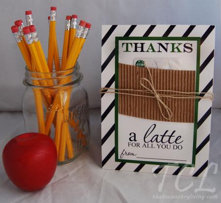 Latte Printable Gift Tags