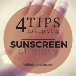 4 Tips to Effectively Use Sunscreen
