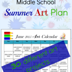 Download a FREE 30 Day Summer Art Plan