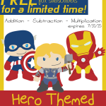 FREE Hero Themed Math Worksheets