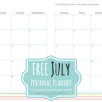 FREE July Personal Planner Pages