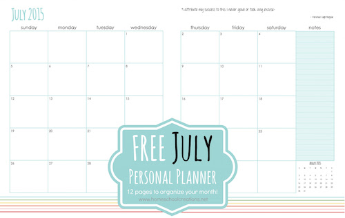 It is an image of Free Personal Planner Printables with regard to monthly