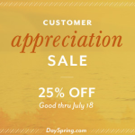 DaySpring Extra 25% Off Entire Purchase: Items as low as $2.25!!