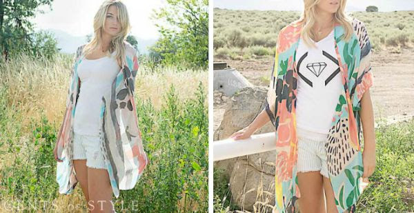 Cents of Style Kimono-gray