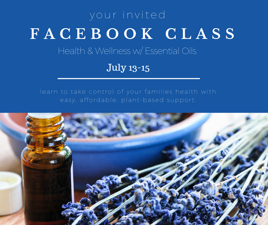 Facebook Essential Oil Class