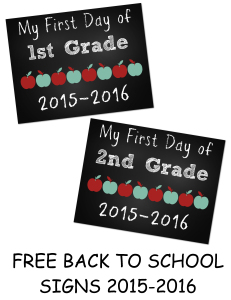 Fist Day of School Signs