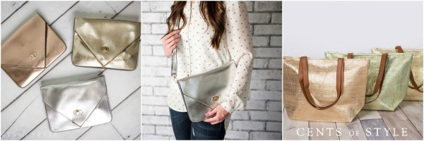 cents of style metallic clutch