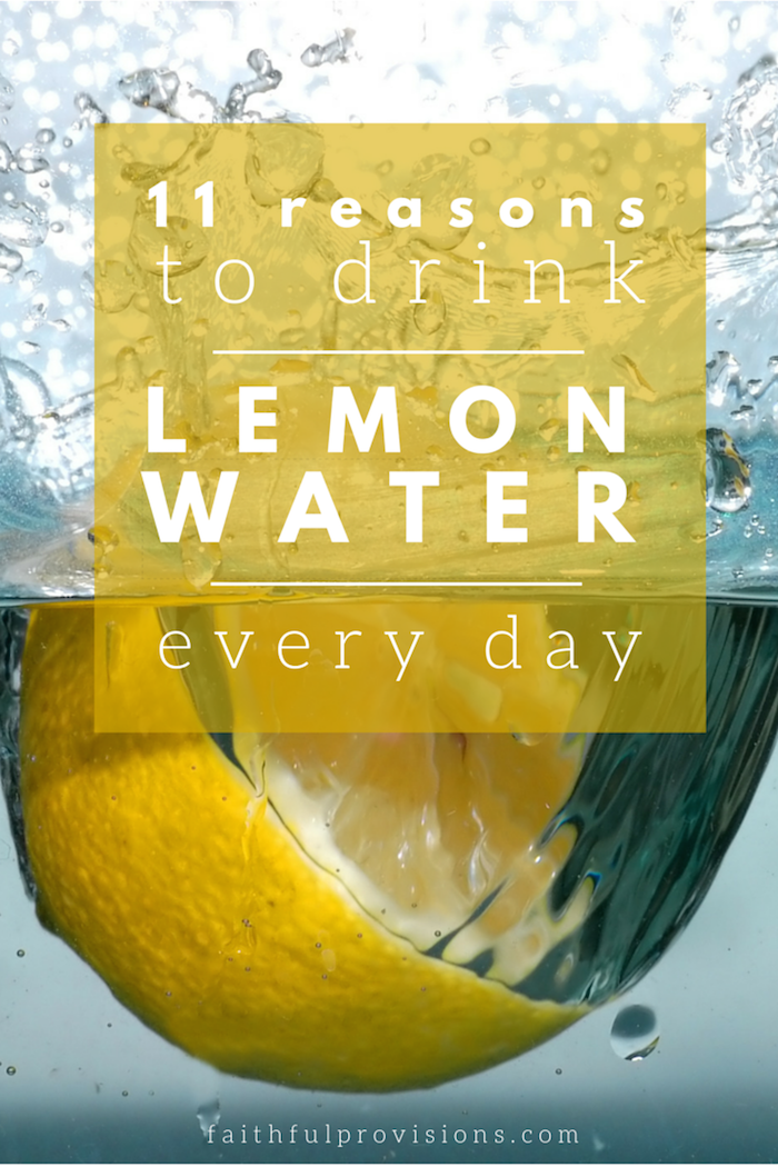 Why I Drink a Glass of Lemon Water EVERY Day | FaithfulProvisions.com