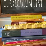 Our 2015-2016 Curriculum List