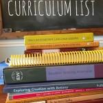 Our 2015-2016 Curriculum List