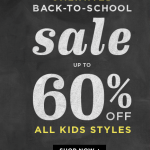 Old Navy: Back to School Sale Up to 60% Off!!