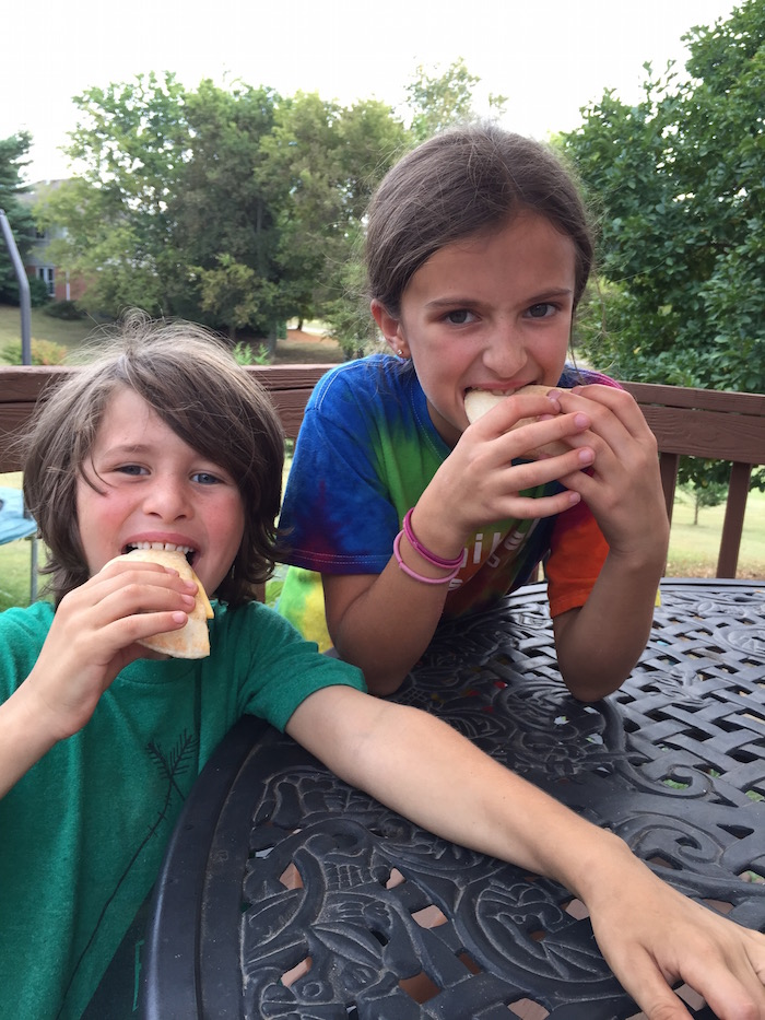 Sandwich Bros eating