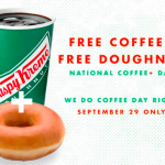 Krispy Kreme: Free Coffee and Donut on September 29