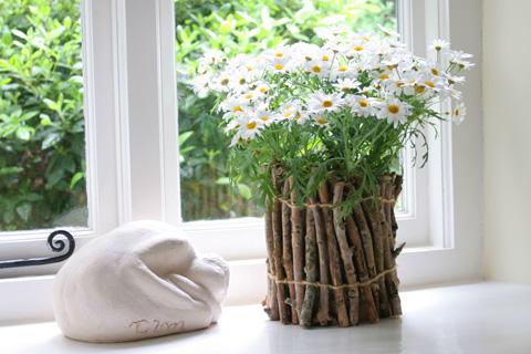 Twig Flower Pots