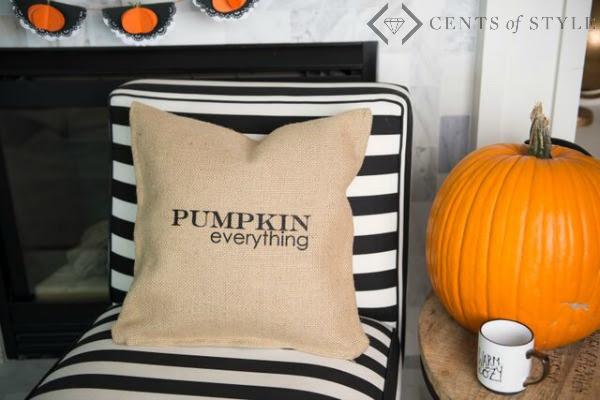 Fall Burlap Pillow Covers