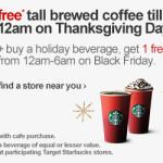 Target: Free Starbucks Coffee