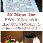 30 Service Projects & Random Acts of Kindness (Printable List)